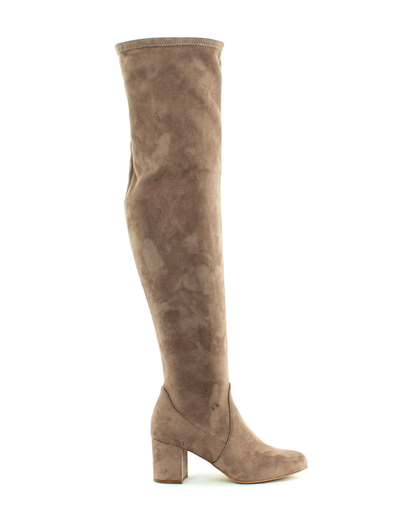 Yieldings Discount Shoes Store's Rikkie Over The Knee Boots by INC in Soft Taupe
