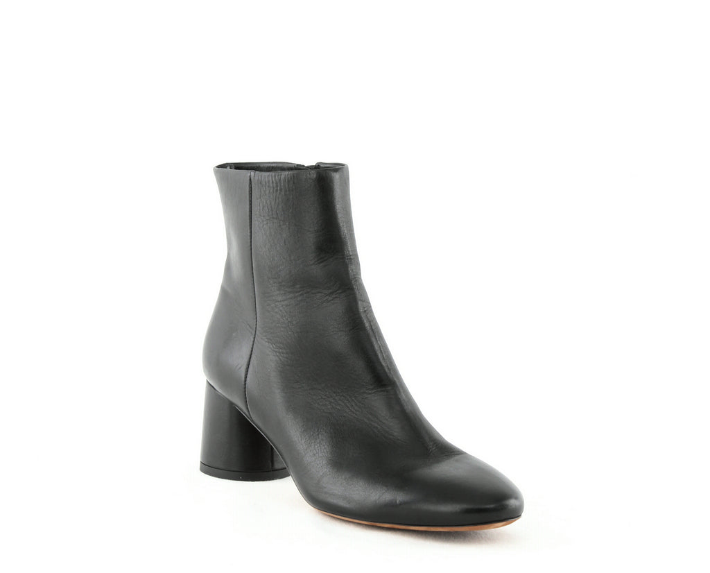 Yieldings Discount Shoes Store's Tillie Mid-Heel Booties by Vince in Black Leather