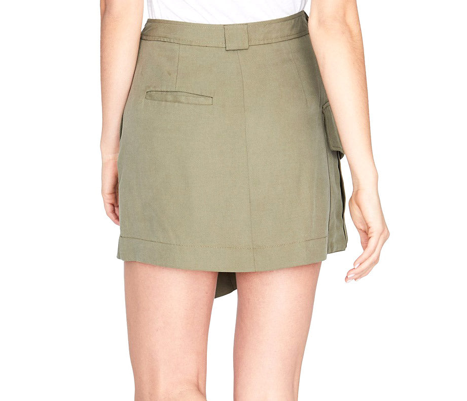 RACHEL Rachel Roy | Utility Pocket Wrap Skirt