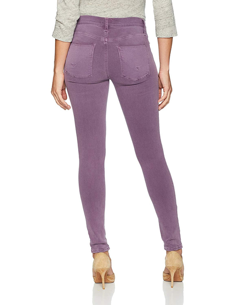 Yieldings Discount Clothing Store's Nico Mid Rise Super Skinny Ankle Jean by Hudson in Purple