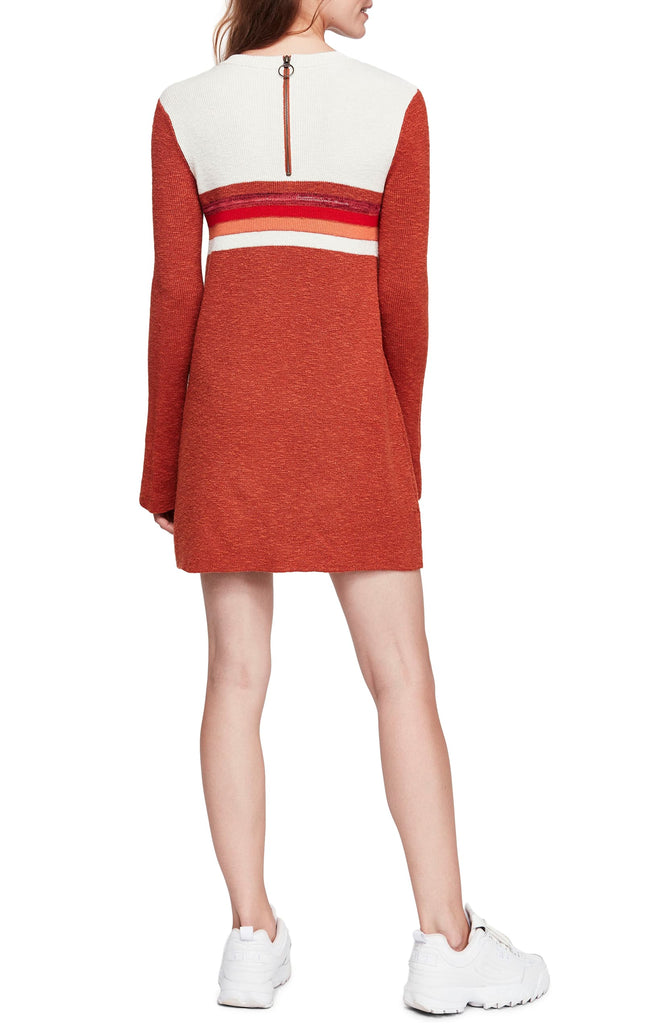 Yieldings Discount Clothing Store's Colorblock Dress by Free People in Red Combo