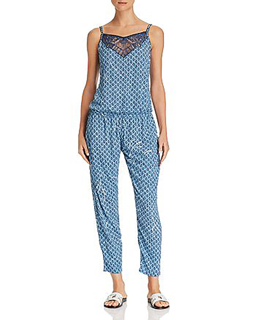 Yieldings Discount Clothing Store's Heidi Jumpsuit by Poupette St. Barth in Blue Multi