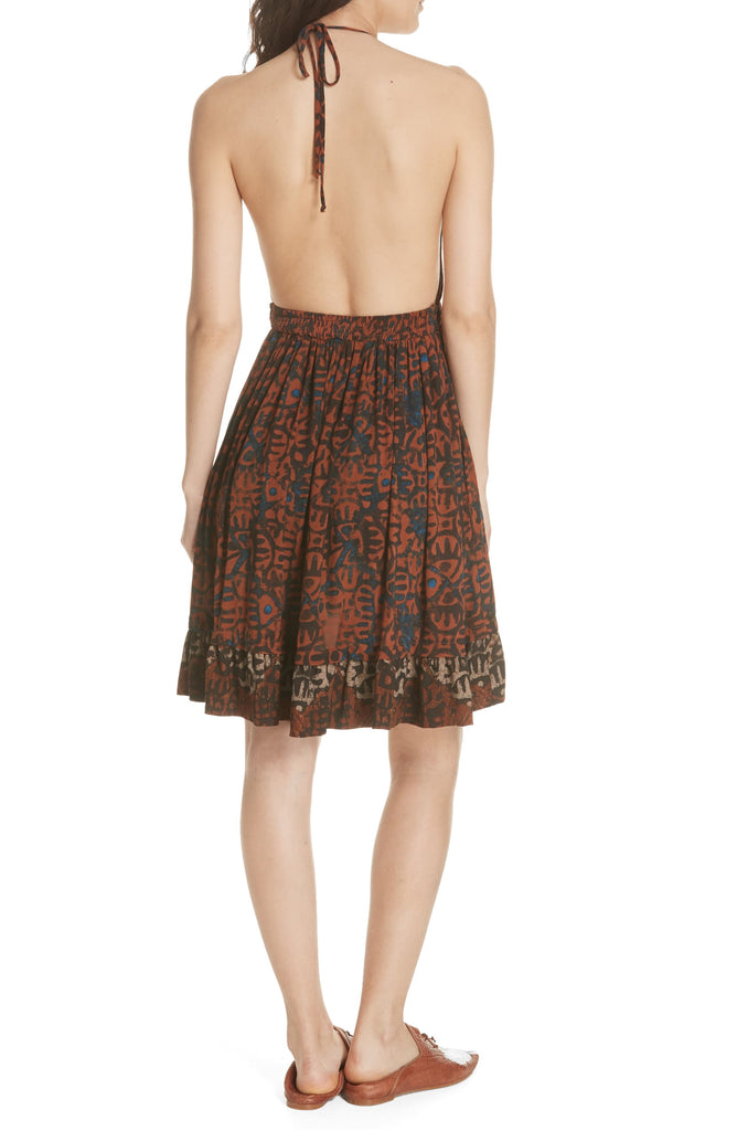 Yieldings Discount Clothing Store's Beach Day Printed Halter Dress by Free People in Black
