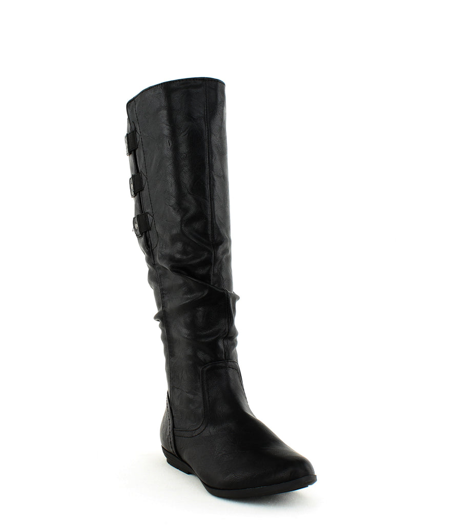 Yieldings Discount Shoes Store's Felisa Tall Boots by Cliffs By White Mountain in Black/Tumbled/Smooth