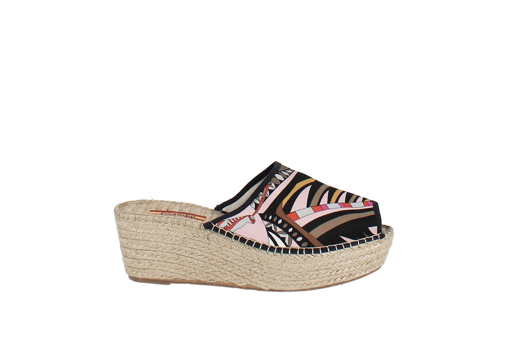 Yieldings Discount Shoes Store's Alexa Wedge Heel Espadrille Sandals by Respoke in Brown