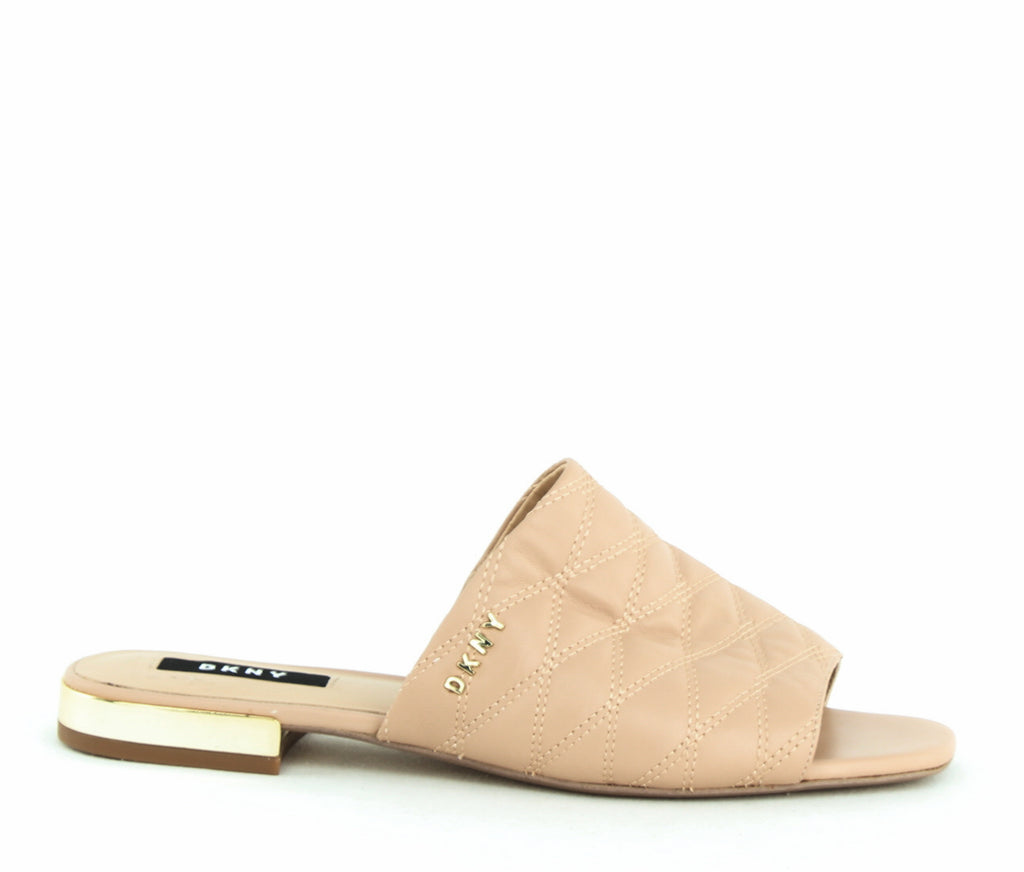 Yieldings Discount Shoes Store's Roy Flat Sandal by DKNY in Taupe
