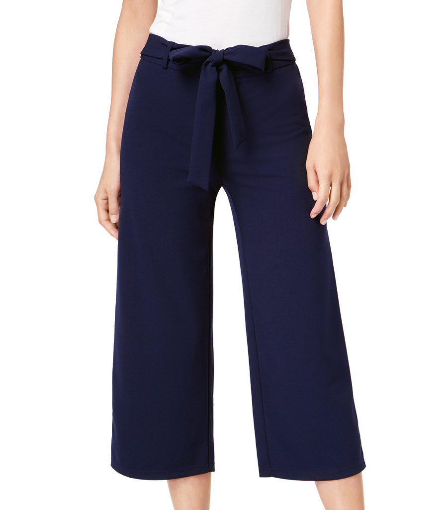 Yieldings Discount Clothing Store's Core Fashion Tie Waist Causal Wide Leg Pants by Maison Jules in Blue Notte