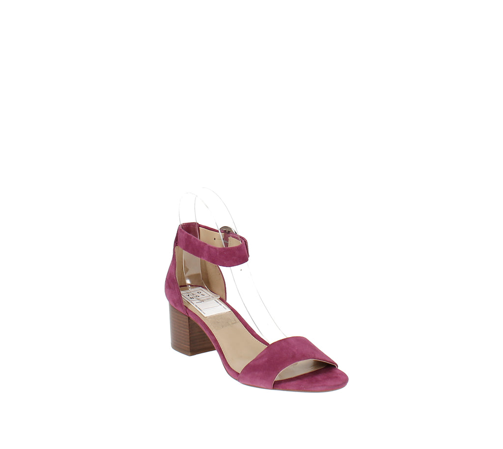 Yieldings Discount Shoes Store's Lena Block Heel Dress Sandals by MICHAEL Michael Kors in Garnet
