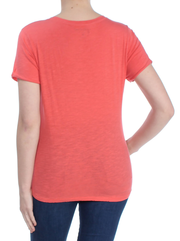 Yieldings Discount Clothing Store's Allover Pineapple T-Shirt by Lucky Brand in Coral