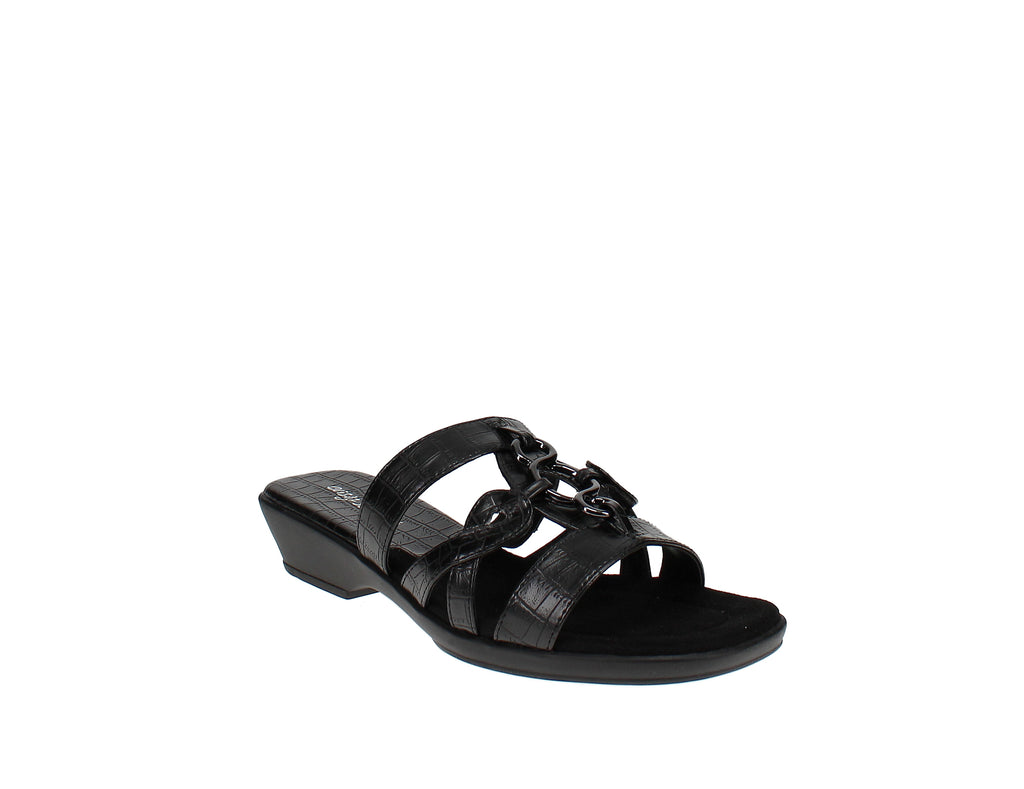 Yieldings Discount Shoes Store's Torrid Slide Sandals by Easy Street in Black