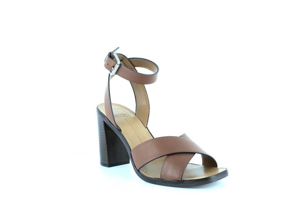 Yieldings Discount Shoes Store's Nala Sandals by Dolce Vita in Brown Leather
