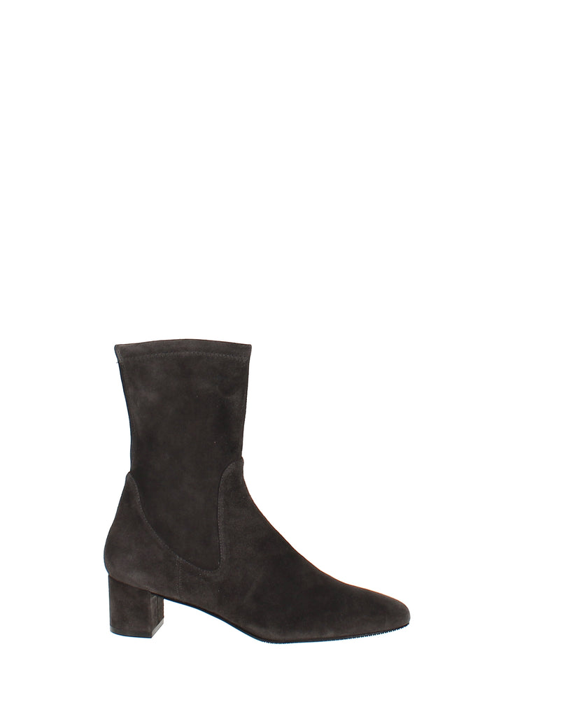 Yieldings Discount Shoes Store's Ernestine Stretch Bootie by Stuart Weitzman in Grey