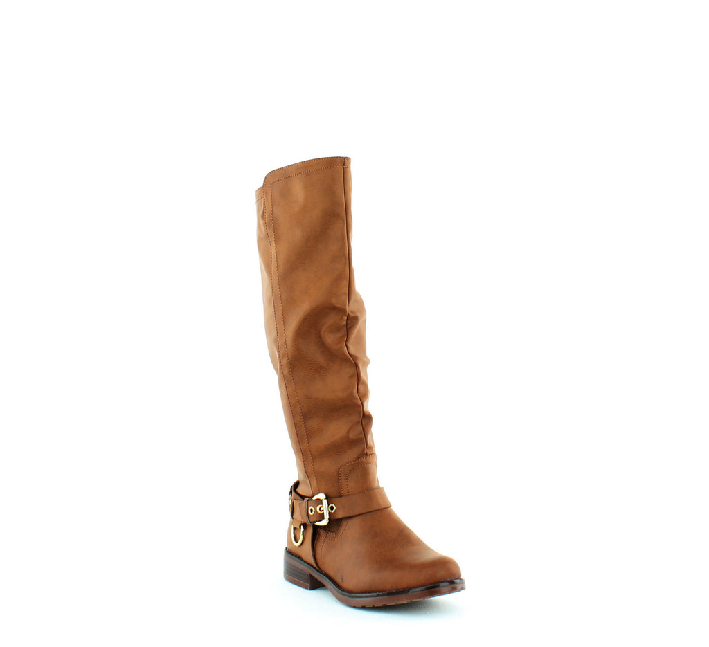 Yieldings Discount Shoes Store's Mauricia Wide Calf Boots by XOXO in Tan