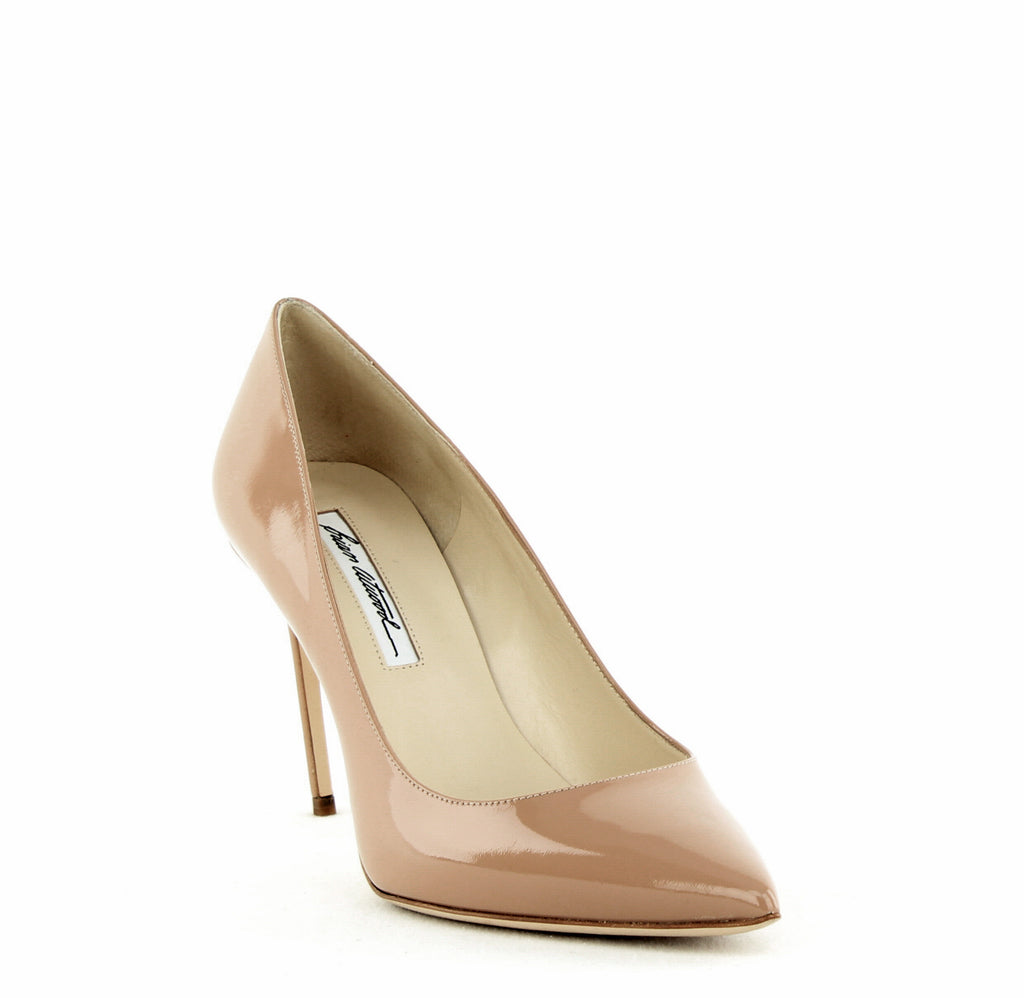 Yieldings Discount Shoes Store's Valerie Pointed-Toe Pumps by Brian Atwood in Cappuccino Nude