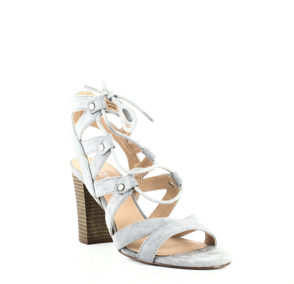 Yieldings Discount Shoes Store's Balta Lace-Up Sandals by XOXO in Grey
