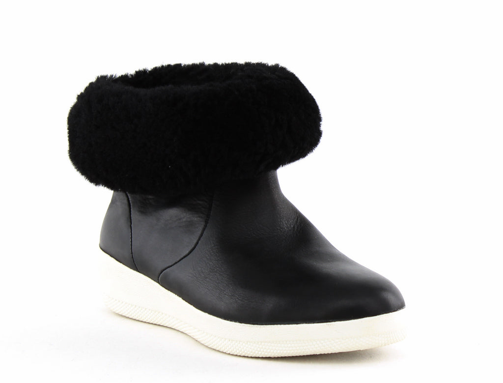 Yieldings Discount Shoes Store's Skatebootie Shearling Lined Bootie by Fitflop in Black