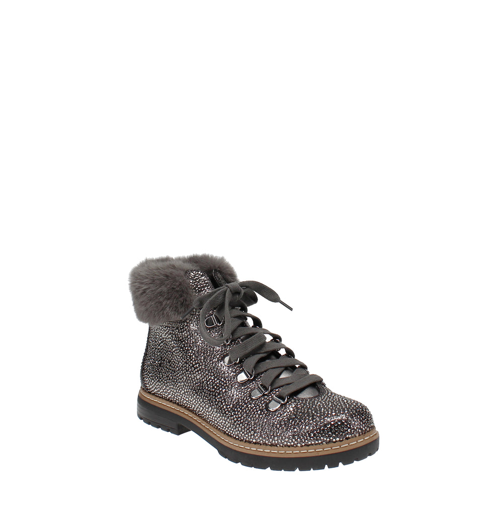 Yieldings Discount Shoes Store's Pravale Lug Sole Cold Weather Booties by INC in Pewter