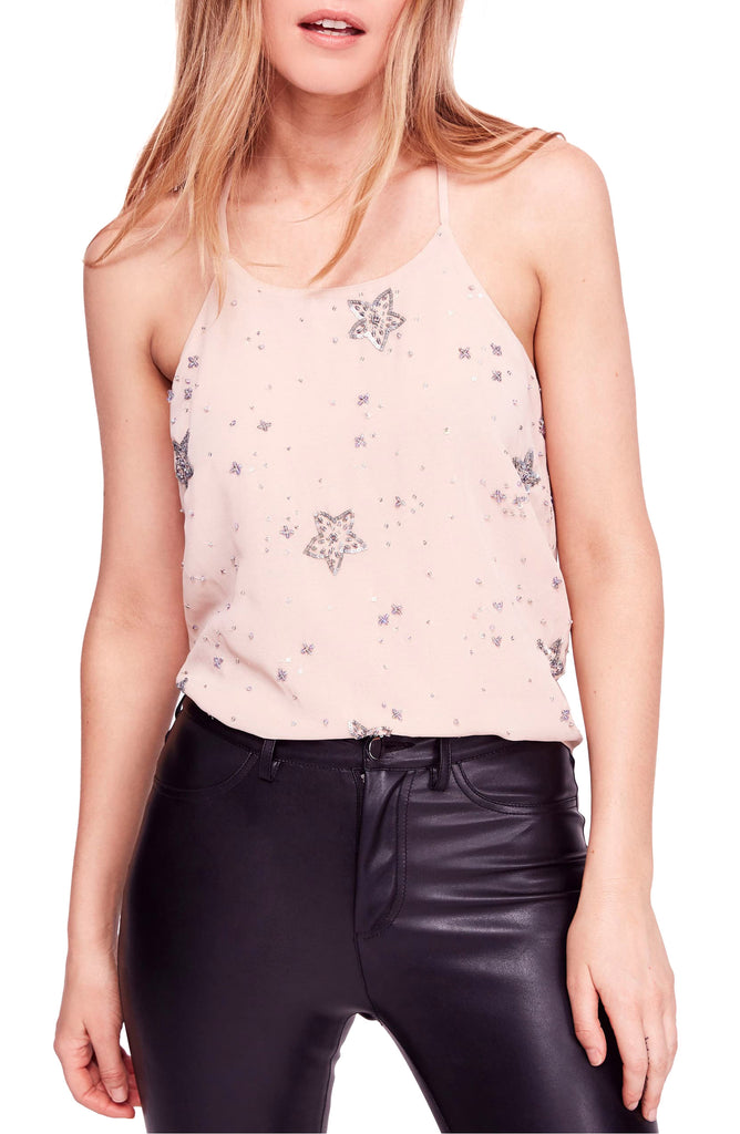 Yieldings Discount Clothing Store's Star Camisole by Free People in Blush Combo