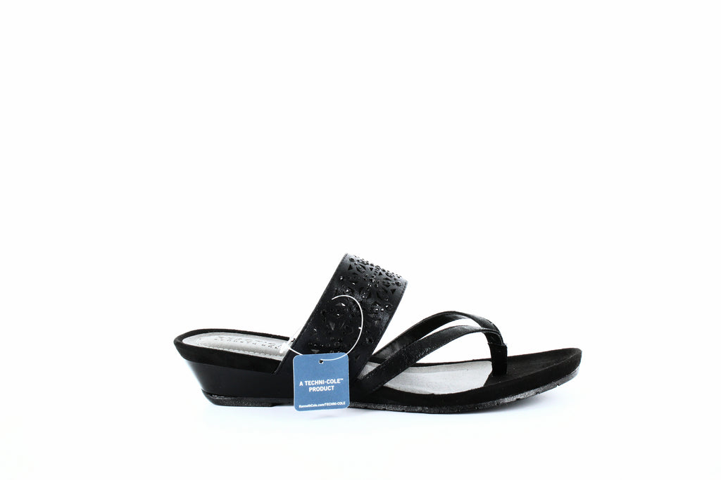 Yieldings Discount Shoes Store's Great Chime Wedge Sandals by Reaction Kenneth Cole in Black