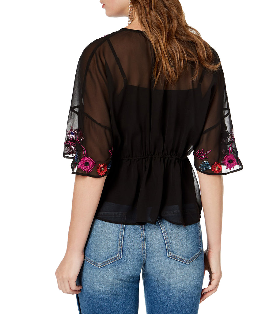 Guess | Embroidered Tassel-Tie Top
