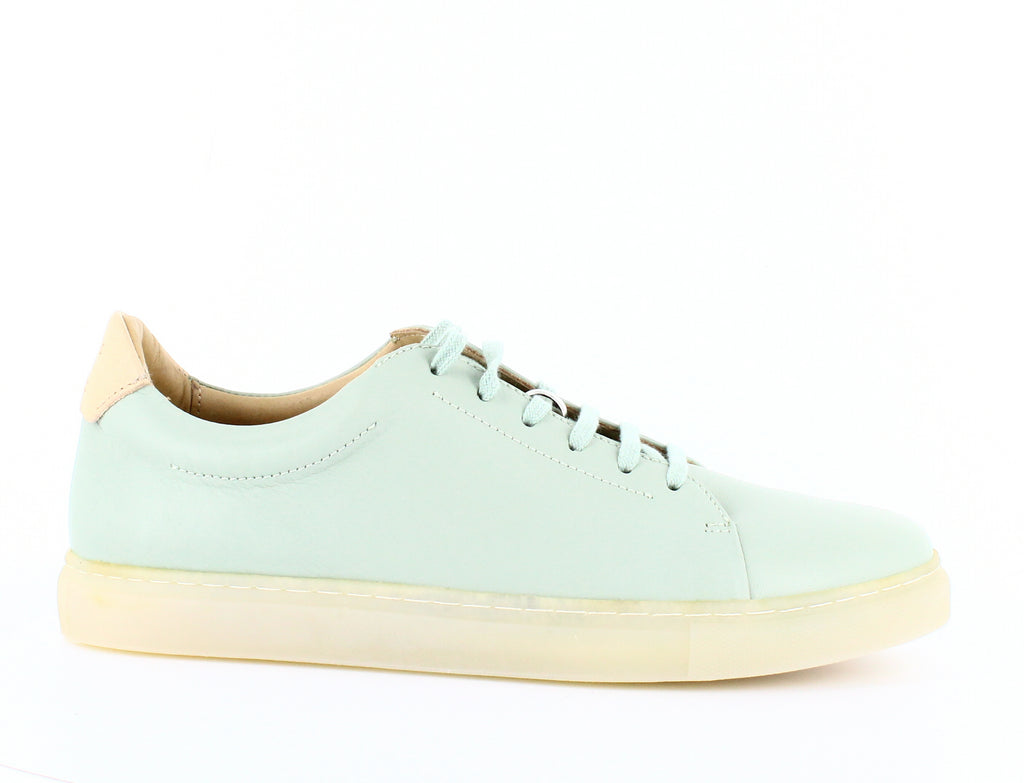 Yieldings Discount Shoes Store's Martel Leather Sneakers by Pairs in Paris in Watergreen