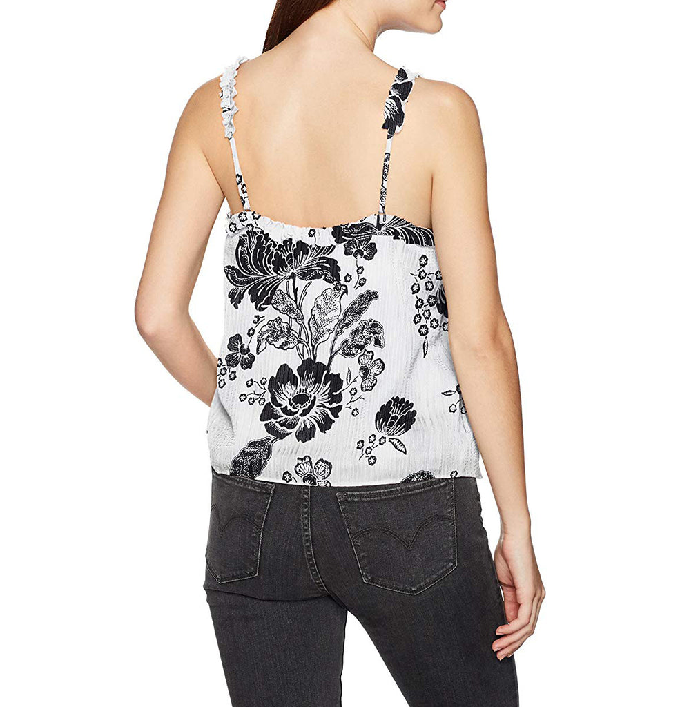 Yieldings Discount Clothing Store's Audrey Ruffle Cami by Guess in White Alyssum