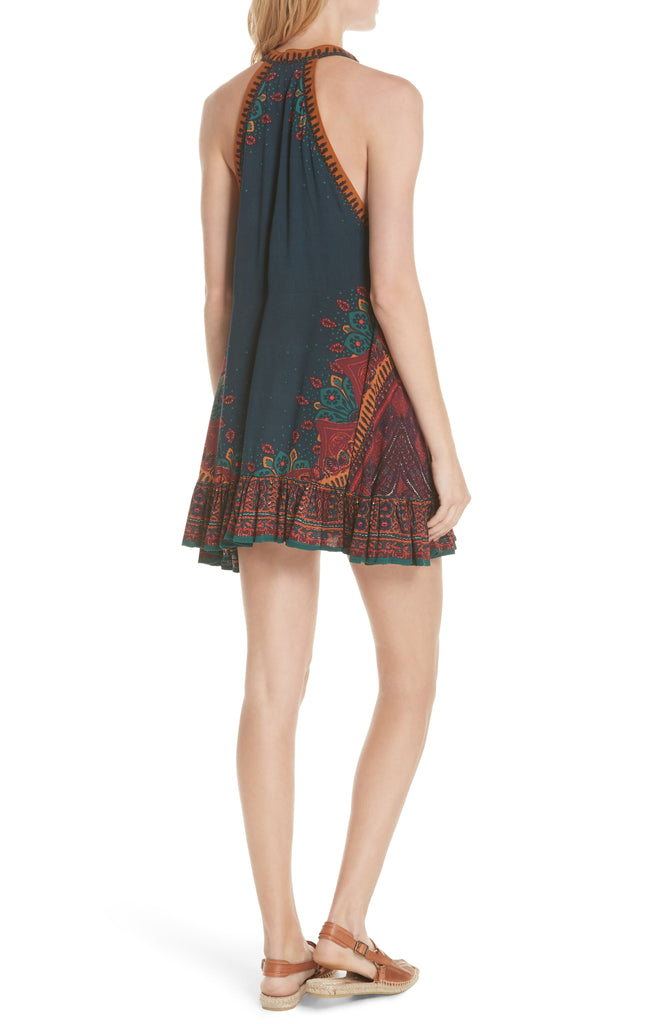 Free People | Steal The Sun Printed Halter Tunic Dress