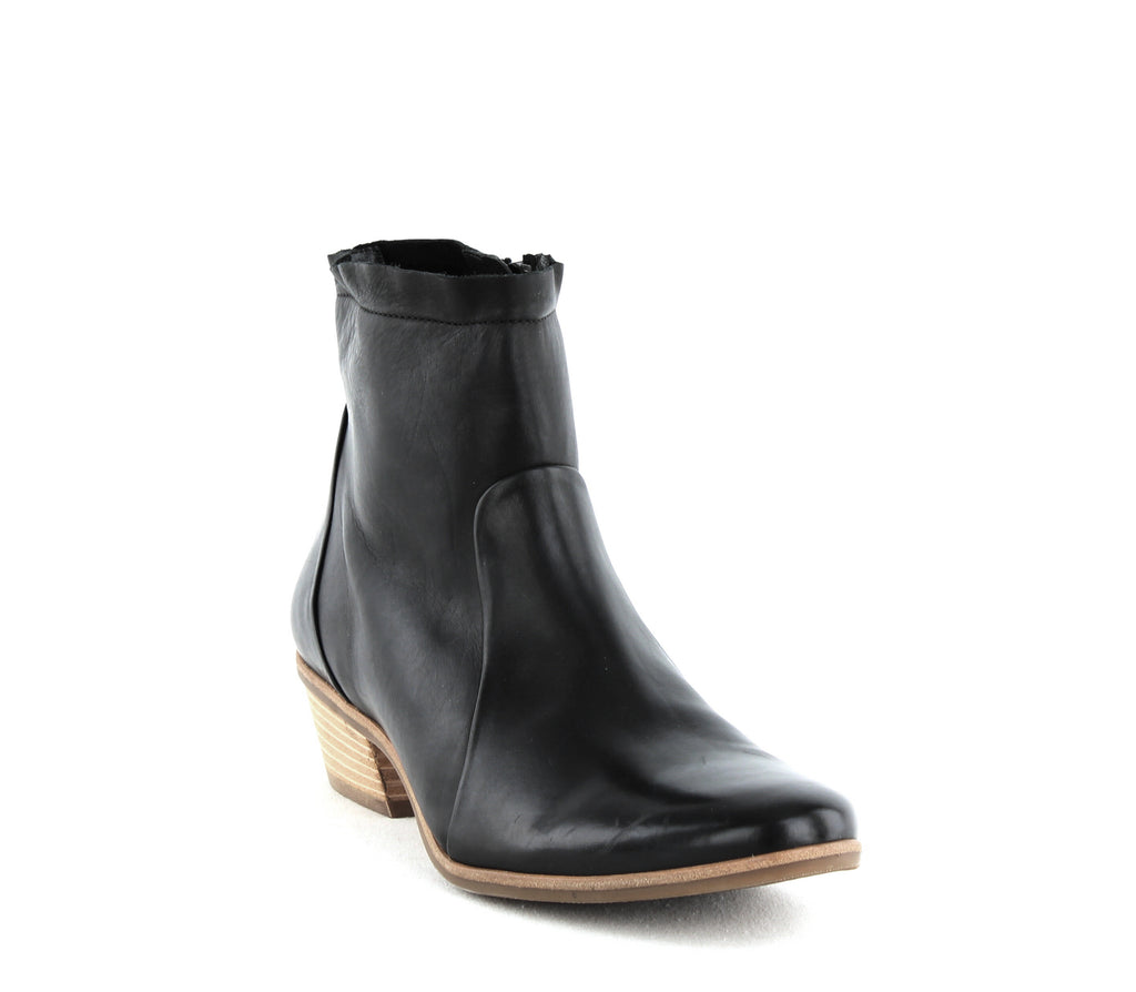 Yieldings Discount Shoes Store's Shaw Block Heel Ankle Booties by Paul Green in Black