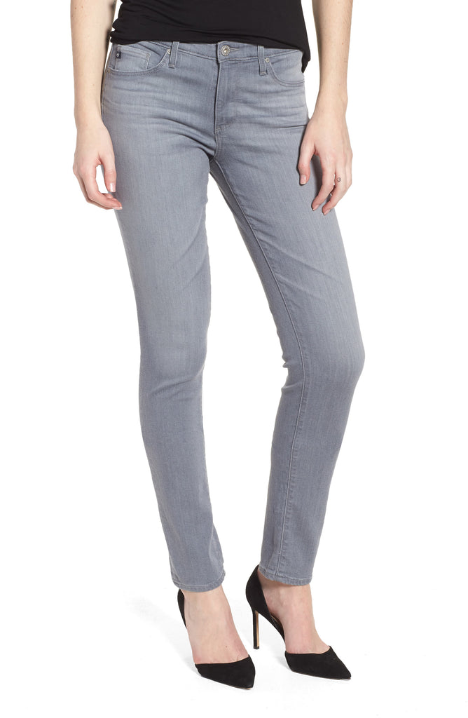 Yieldings Discount Clothing Store's The Prima Mid Rise Skinny Jeans by AG Adriano Goldschmied in Valley Smoke