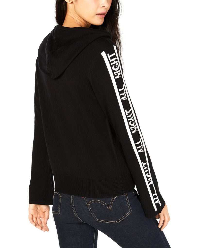 Yieldings Discount Clothing Store's All Night Hoodie Sweater by Bar III in Deep Black