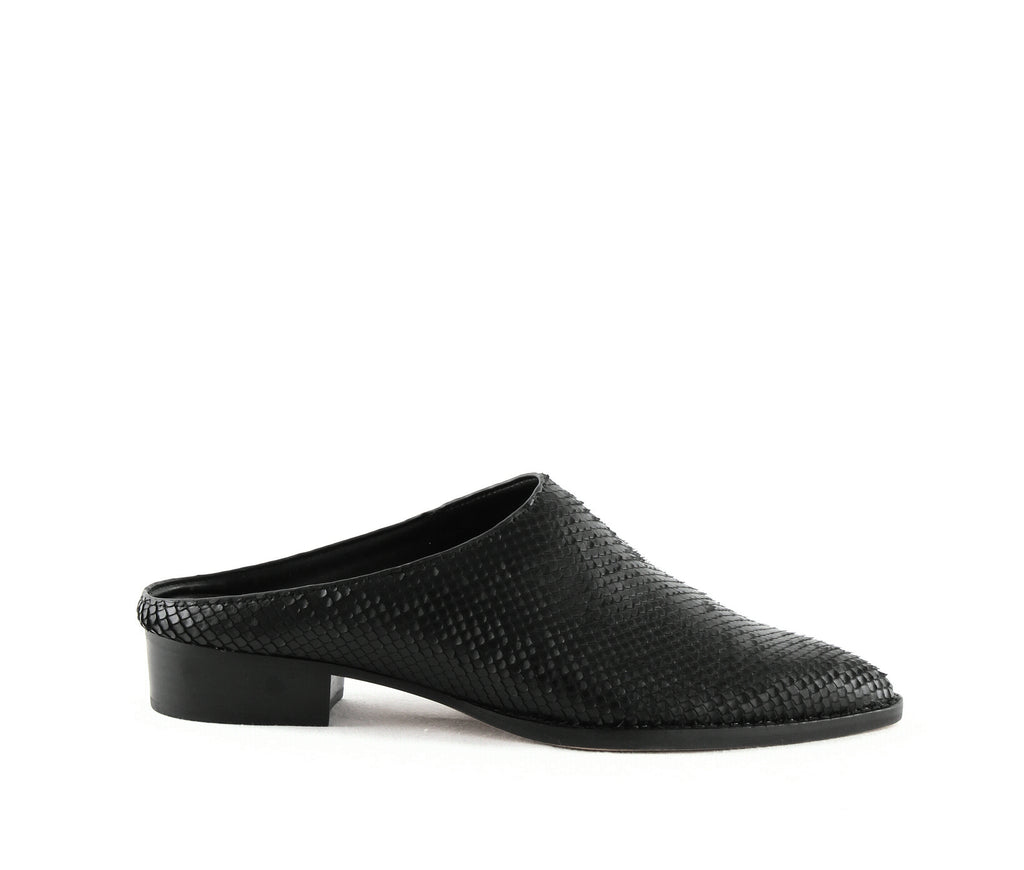 Yieldings Discount Shoes Store's Aven Mules by Dolce Vita in Black Sliced Leather