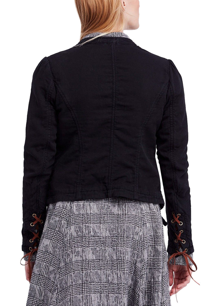 Yieldings Discount Clothing Store's Jagger Double-Breasted Cotton Jacket by Free People in Black