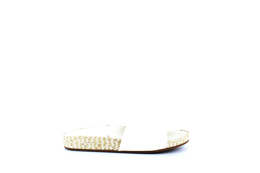 Yieldings Discount Shoes Store's Sanford Espadrille Slide Sandals by Splendid in White Leather