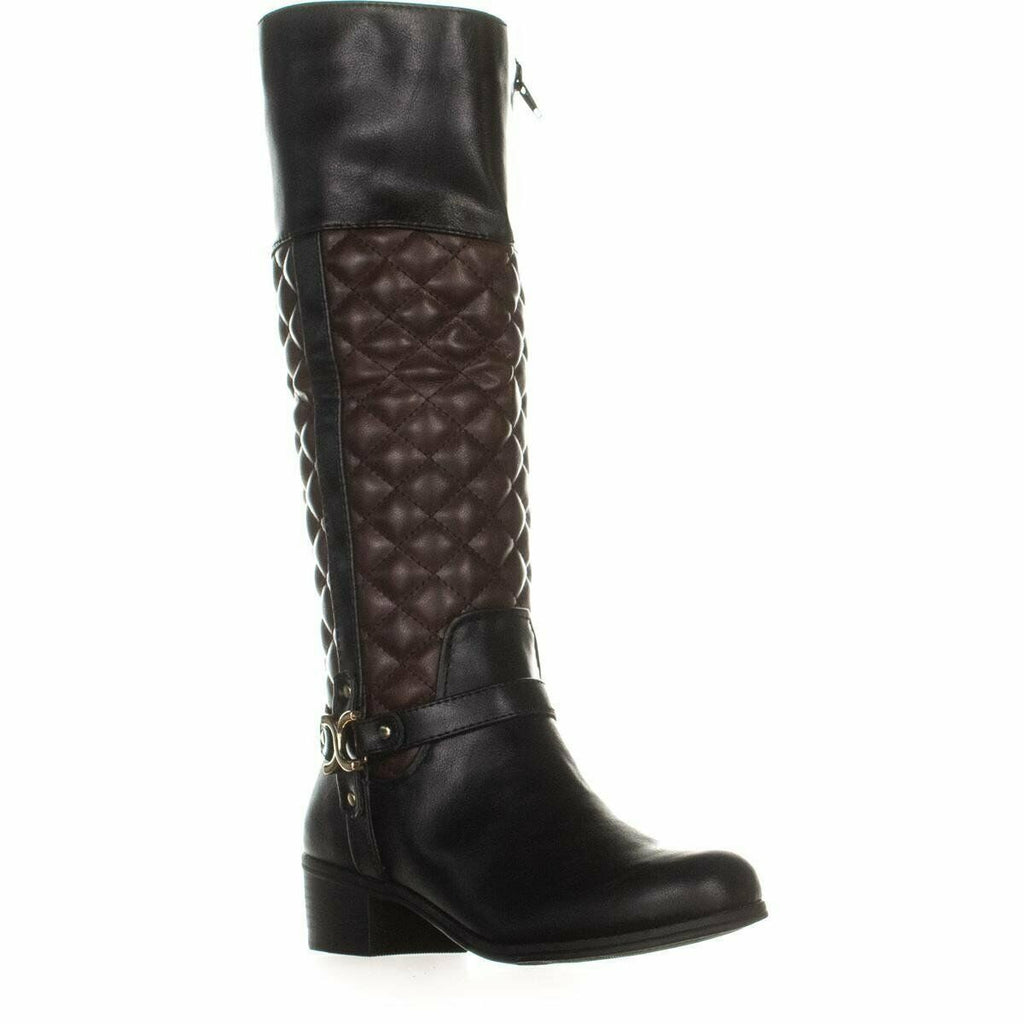 Yieldings Discount Shoes Store's Helenn Knee High Boots by Charter Club in Black/Brown