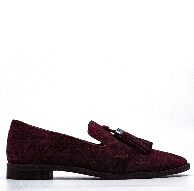 Yieldings Discount Shoes Store's Hadden Suede Loafers by Franco Sarto in Merlot