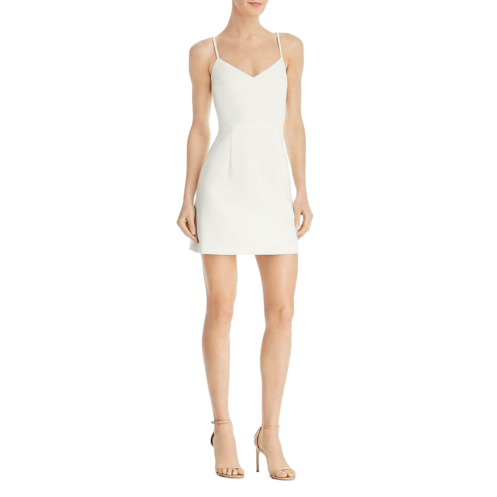 Yieldings Discount Clothing Store's Whisper Knit Summer Mini Dress by French Connection in Summer White