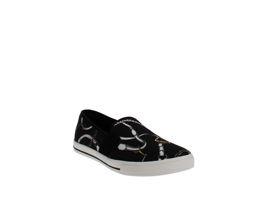 Yieldings Discount Shoes Store's Jinny Slip-On Sneakers by Lauren by Ralph Lauren in Black