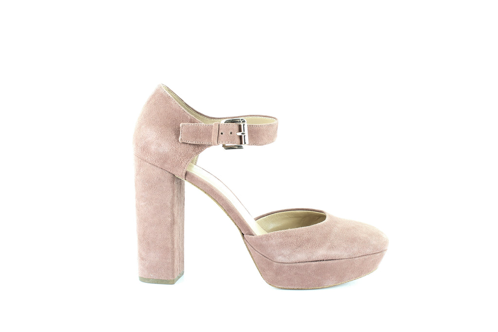 Yieldings Discount Shoes Store's Sierra Platform Pumps by MICHAEL Michael Kors in Dusty Rose