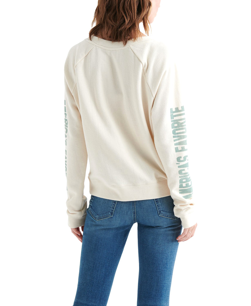 Yieldings Discount Clothing Store's Rose Sweatshirt by Lucky Brand in Cream