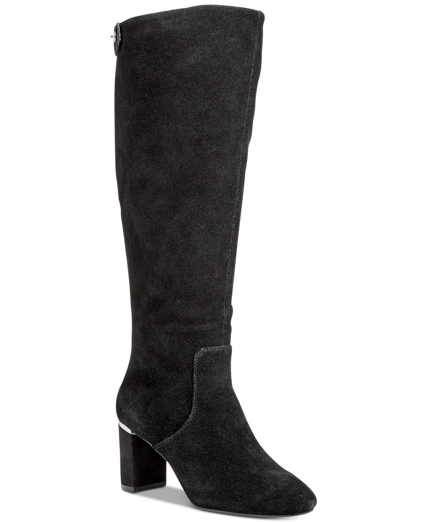 Yieldings Discount Shoes Store's Nessii Knee High Boots by Alfani in Anthracite Grey
