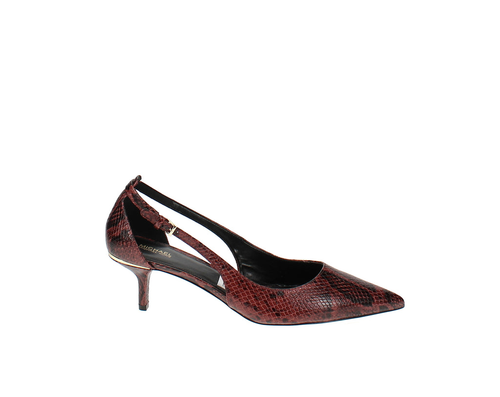 Yieldings Discount Shoes Store's Lorene Cutout Pumps by MICHAEL Michael Kors in Brandy