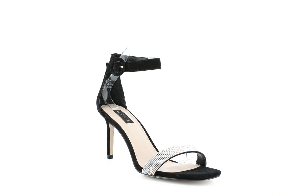 Yieldings Discount Shoes Store's Seven High-Heel Sandals by Aqua in Black Multi