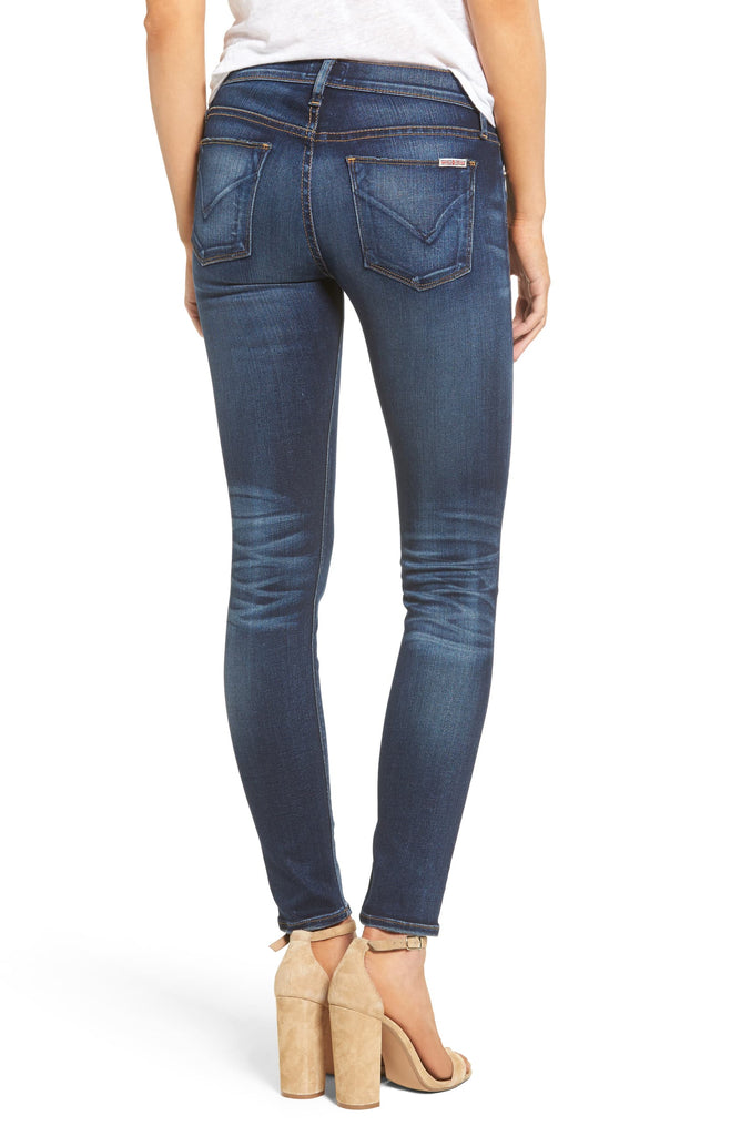 Yieldings Discount Clothing Store's Nico Midrise Super Skinny by Hudson in Blue
