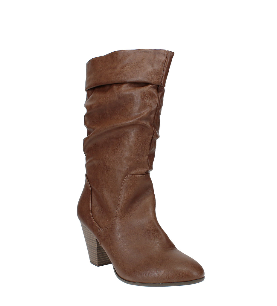 Yieldings Discount Shoes Store's Oliana Mid Calf Boots by Esprit in Whiskey