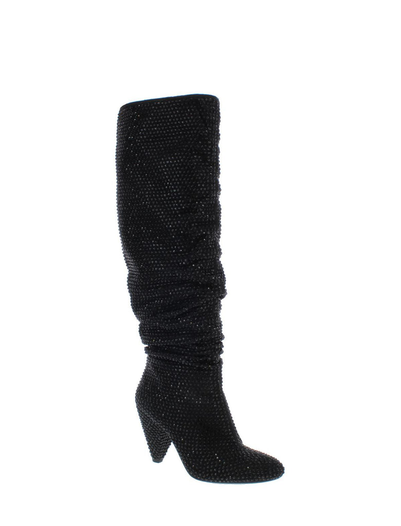 Yieldings Discount Shoes Store's Gerii Slouch Boots by INC in Black Bling