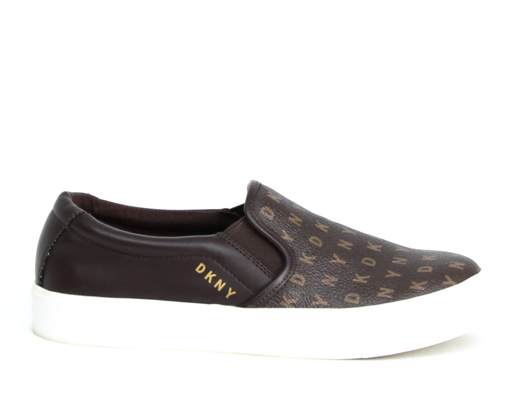 Yieldings Discount Shoes Store's Bess Slip On Sneaker by DKNY in Brown