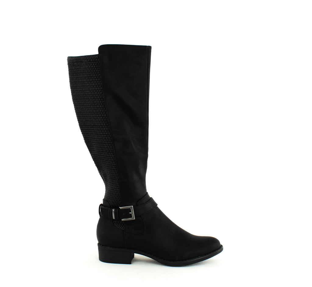 Yieldings Discount Shoes Store's Luciaa Riding Boots by Style & Co in Black