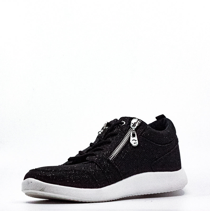G By Guess | Blazin Glitter Fabric Zipper Sneakers