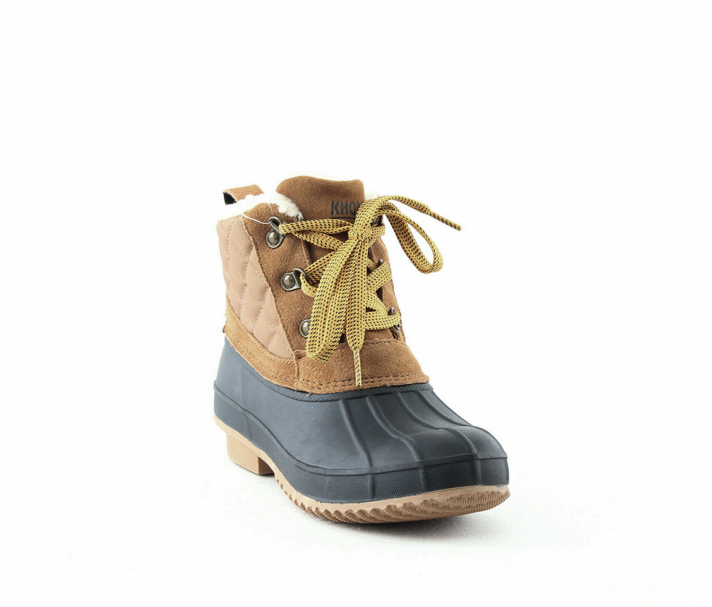 Yieldings Discount Shoes Store's Dixie Boots by Khombu in Tan/Navy