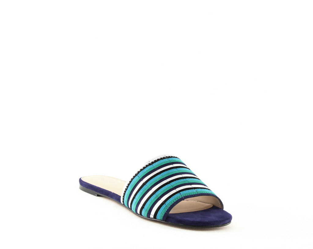 Yieldings Discount Shoes Store's Marley Flat Sandals by Botkier in Ultramarine